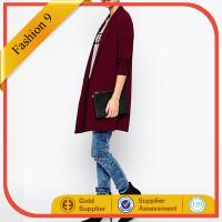 Red Crepe Duster Coat
