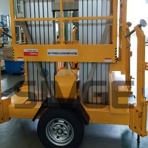 Quality Aluminium Alloy Trailer Mounted Aerial Work Lift Platform With 8m Platform for sale
