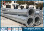 HDG Steel Tubular Pole For Power Transmission And Distribution With Zinc Coating