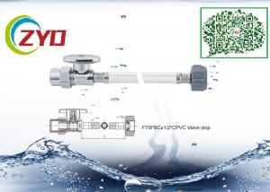 China CPVC Stop Valve Sink Water Supply Line, CE Flexible Plumbing Supply Lines on sale