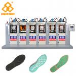 TPU TR PVC Shoe Sole Making Machine 6 Stations With P.I.D. Control System
