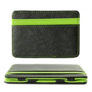 China Unisex RFID Blocking Leather Wallet , Slim Two Tone Magic Bifold Wallet on sale