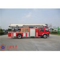 China Stainless Steel Fire Pump Aerial Platform Fire Truck , Wheel Base 5550mm Aerial Ladder Truck on sale