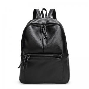 China New Travel Backpack Korean Women Backpack Leisure Student Schoolbag Soft PU Leather Women Bag on sale