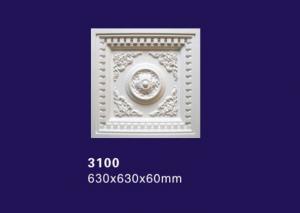 China Square /Rectangular Design Polyurethane Ceiling Medallion / Lamp Medallion For Ceilings on sale