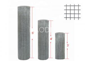China Professional Welded Steel Wire Fabric Zinc Coated Layer Roll Height 3' 4' Or 5' on sale