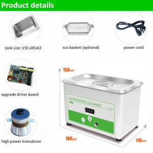 China 800ml Ultrasonic Cleaner Jewelry Glasses Tattoo Dental Home Health Care on sale