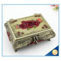Pierced Earring Jewelry Box Silver Plated Jewelry Box Vintage Jewelry Box