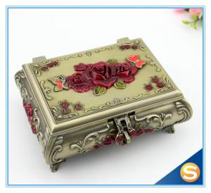 China Pierced Earring Jewelry Box Silver Plated Jewelry Box Vintage Jewelry Box on sale