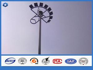 China LED Electric Q235B / A283 M steel mast highway light pole , light tower mast customized color on sale