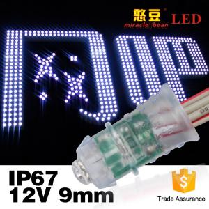 China Led Exposed Light Inventor Waterproof IP67 F5 0.12W Single Color DC12V Led Pixel Light 9mm on sale