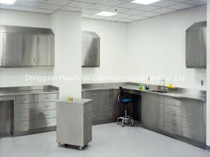 China Silver Stainless Steel Lab Tables , Modular Lab Benches DTC Hinge 1500*850mm on sale