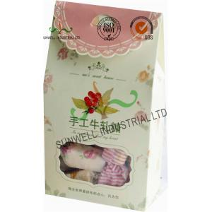 China Offset Printing Cardboard Candy Packaging Boxes With Clear PVC Window on sale