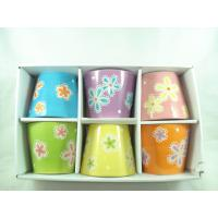 Indoor Small Round Ceramic Bonsai Pot With Window Gift Box , 12 X 12 X 9.8cm