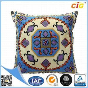 China 柔らかく、快適で短いプラシ天の家の織物製品の正方形の優雅な枕カバー on sale