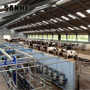 China Prefab Steel Structure Space Frame Poultry Shed Cow Shed Farm Building on sale