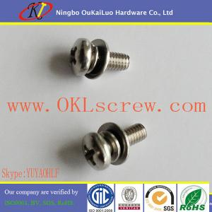 China 304 Stainless Steel Pan Head Phillips Sems Machine Screw on sale