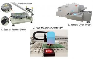 China PCB Manufacturing Equipment SMT Production Line Manual Pick And Place Machine on sale