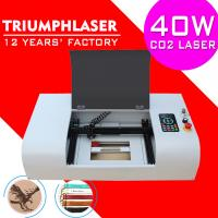 Triumphlaser Hot sale Co2 mini laser engraving machine for wood rubber stamp laser engraver cutter 300*200mm 40W USB
