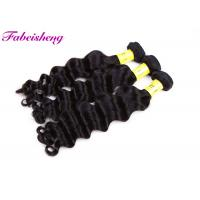 China Peruvian Loose Wave , Virgin Natural Black Hair Extensions Tangle - Free on sale