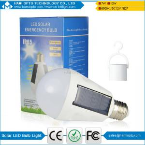 China 7W 5Hours work time Portable E27/E26 Led Bulb Lamp Rechargeable Solar Panel Applicable on sale