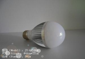 China 2013 Hot Sales High Quality High Power 5w e27 Warm White Low Heat No Uv Led Light Bulb For Sales on sale