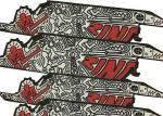 China Printed Long Skateboard Grip Tape / Scooter Red Grip Tape Skateboard 0.75mm wholesale