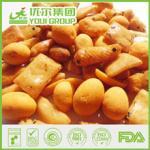 Biscuits de riz et préparation enduite d'arachides