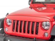 China ABS Plastic Jeep Wrangler Eagle Eye Grill Custom Size Maintenance Free on sale