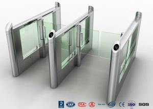 China Luxury Speed Automated Gate Systems Bi - Direction Motorized For Card Reader supplier