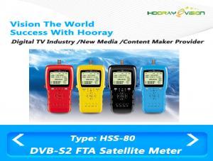 China RF Input Interface DVB S2 Digital Set Top Box Satellite Finder FTA LCD Monitoring on sale