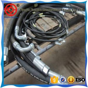 China HYDRAULIC HOSE FITTING RUBBER HOSE SPIRAL AND BRAIDED STEEL WIRE on sale