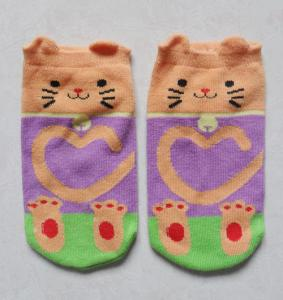 China Soft thermal knitted children/Kid′s 3D 100% cute cotton Socks on sale