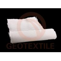 White Geotextile Stabilization Fabric High Tensile Strength Low Elongation Multifilament Reinforced Earth Structures
