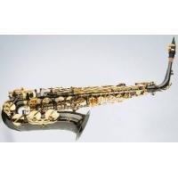 Black Nickel Body Eb Key Alto Saxophone Gold Plated Keys Woodwind Musical Instrument