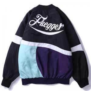 China Mens 100% Polyester Soft Shell Black Bomber Jacket Sport Fashion baseball jacket varsity on sale