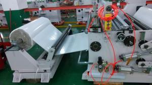 China Machine de fente de film de haute précision, machine de fente non-tissée de petit pain enorme de tissu on sale