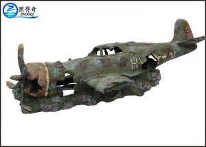 China Plane Model Separated 2 Parts Artificial Ornaments For Aquarium Cool Fish Tank Decoration on sale