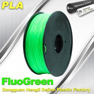 China 1.75 / 3mm PLA Fluo - Green Fluorescent  Filament for RepRap , Cubify on sale