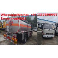 Factory sale high quality and lower price JAC 4*2 LHD 5500L oil tanker fuel transport truck diesel tank truck