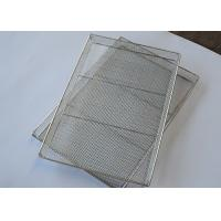 China Polishing Stainless Steel 1.2mm Wire Mesh Oven Tray Baking on sale