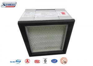 China Clean Room Mini Pleat Duct Type Air Conditioning Hepa Filter Aluminum Frame on sale