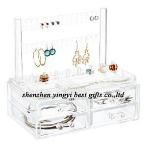 China Best selling  Clear Earring & Ring Organizer & Drawers on sale