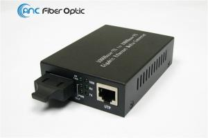 China Gigabit Ethernet Fiber Media Converter 10 100 1000M Dual Fiber SM Or MM on sale