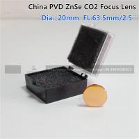 """China ZnSe Focus Lens DIa. 20mm FL 63.5mm 2.5"""" for CO2 Laser Engraving Cutting Machine"""