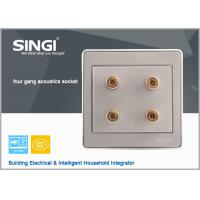 China GNW56BK Popular double 2gang power audio electrical wall socket audio wall socket, on sale