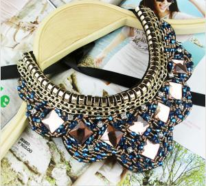 China TP-N1 Jewelry Rhinestone Bead statement necklace Jewelry Necklace for Costume on sale