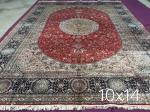 couvertures traditionnelles de tapis de Perse, tapis persans en soie originaux de couverture