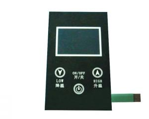 China Clear Window Tactile Capacitive Membrane Switch TV Remote Control Panel on sale