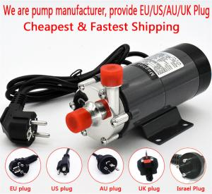 China HomeBrew Pump MP-15R Food Grade 304 Stainless Steel Brewing 220V Magnetic Water Pump Temperature 140C 1/2 BSP/NPT on sale